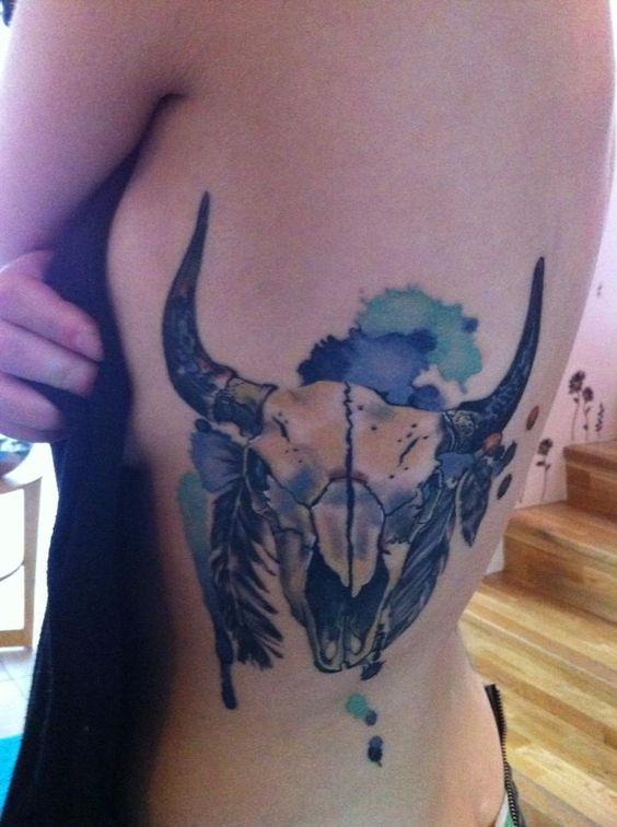 Buffalo icelandic tattoo and skulls on pinterest for Tattoos of buffaloes