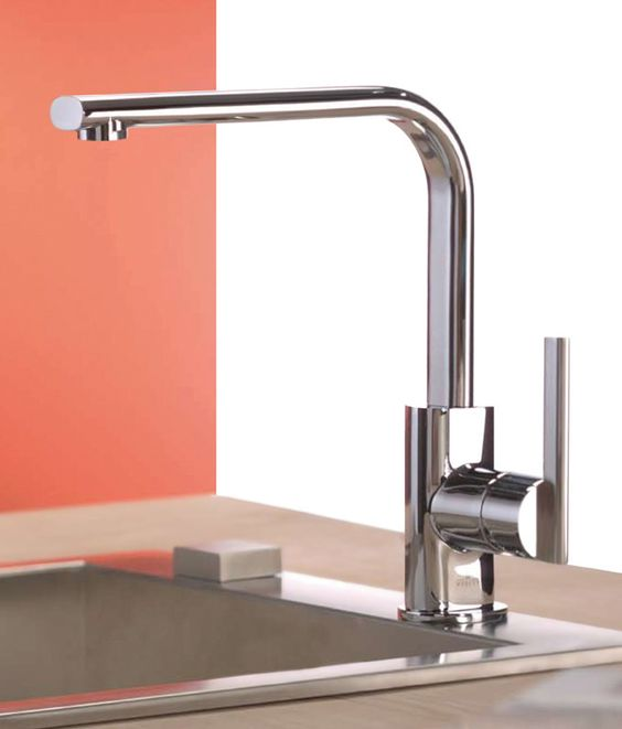 how handsome is this sleek italian kitchen faucet