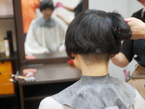 Long To Short 昨日の撮影 ショートのヘアスタイル 散髪 ショートヘア 女の子