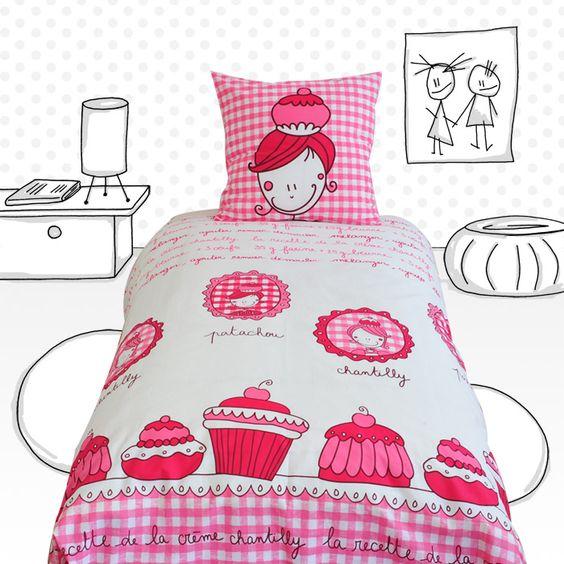 Voila une parure de lit pour les petites gourmandes avec un joli