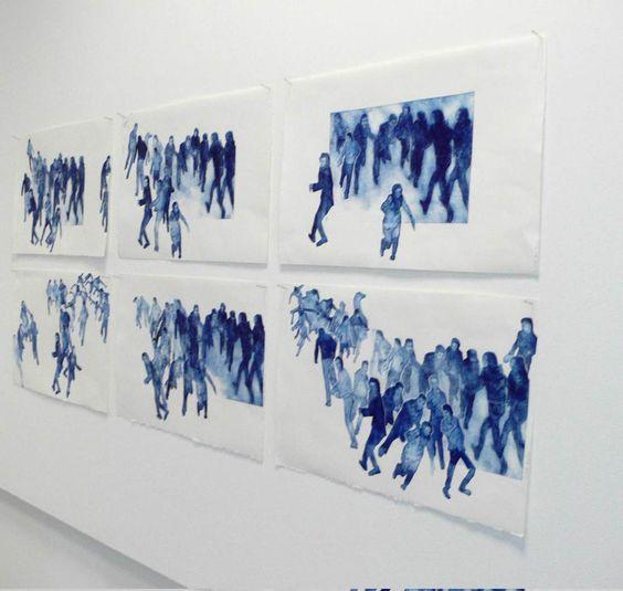 """Exhibition view """"En mouvement"""". Lille. M.Dib"""