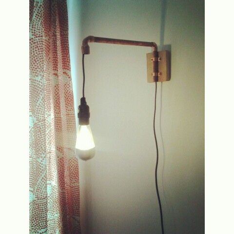 Wall lights, Pipes and Copper on Pinterest