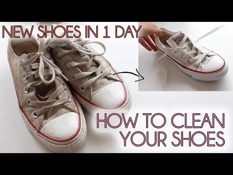 How to clean your shoes EASY | Converse, vans, canvas shoes - YouTube