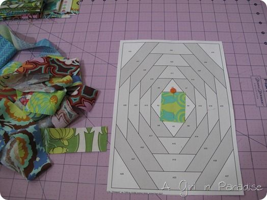 Building Blocks with Friends–Pineapple Blossoms  Paper Pieced tutorial