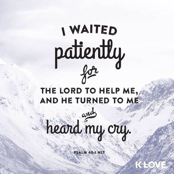 Be patient, and trust that the lord has kept you on the right path.