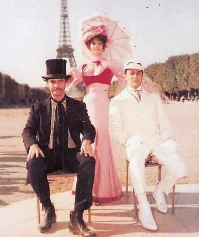 The Great Race -- Jack Lemmon, Natalie Wood, Tony Curtis.  One of the best classic comedies ever made.