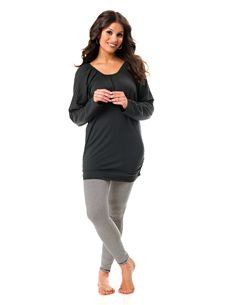 Motherhood Maternity nursing PJs. So comfy and soft. These fit great during pregnancy and come with an adorable onesie for the baby too.