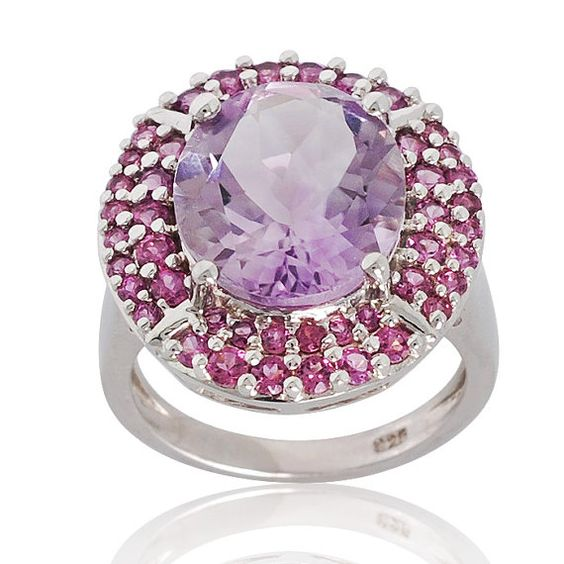 Awesome Pink Amethyst African Rhodolite 925 by ArihantJewelry