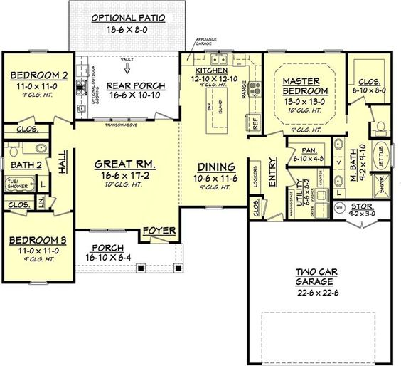 Monster house traditional styles and house plans on pinterest for 1600 sq ft ranch house plans
