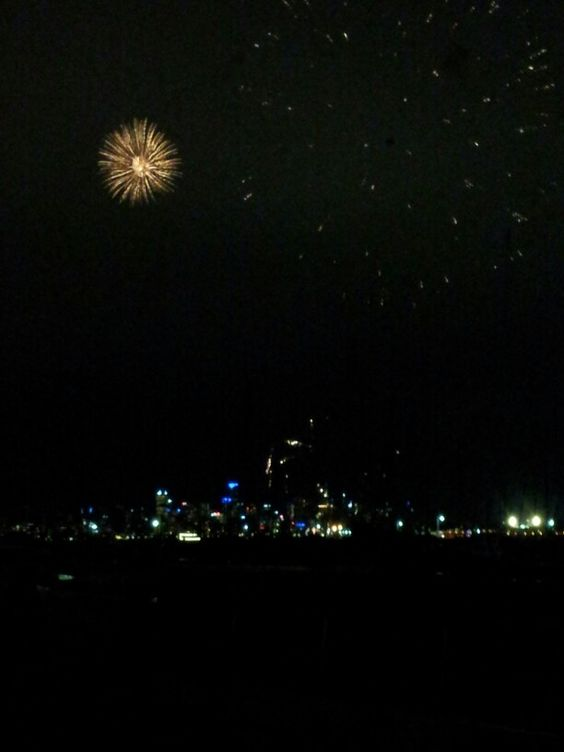 Fireworks over Melbourne
