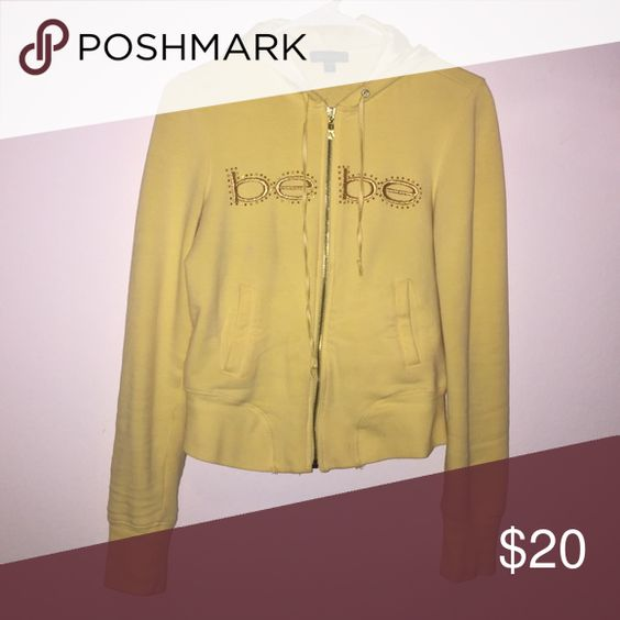 Bebe zip up jacket yellow small s girls women My loss is your gain :) bebe Jackets & Coats
