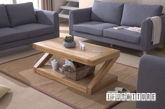 ZEST Z Shape Coffee Table *Solid Oak , Living Room, NZ's Largest Furniture Range with Guaranteed Lowest Prices: Bedroom Furniture, Sofa, Couch, Lounge suite, Dining Table and Chairs, Office, Commercial & Hospitality Furniturte