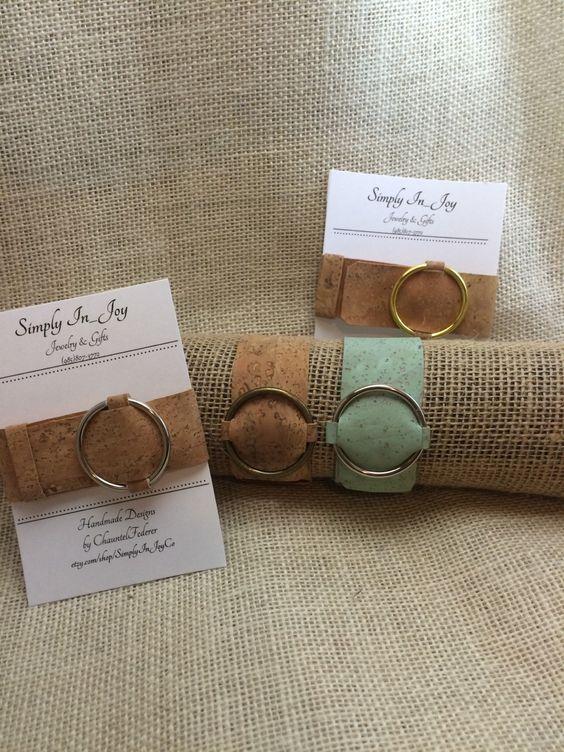 A personal favorite from my Etsy shop https://www.etsy.com/listing/385483476/cork-belt-buckle-bracelet-cuff