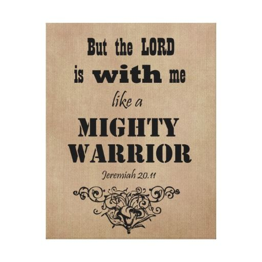 Mighty Warrior Bible Verse Canvas Print #bibleverse #faith