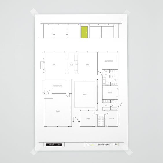 E 111 Atrium Model Eichler Anshen Allen Floorplan