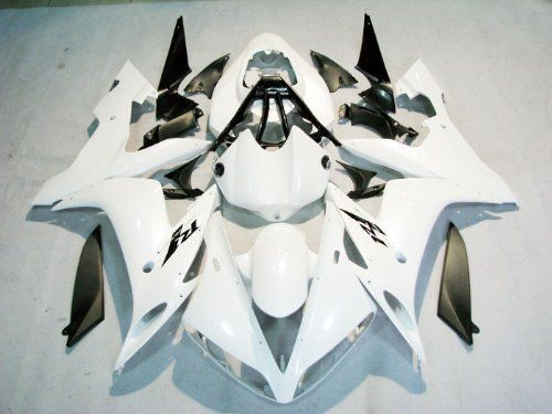 White with Black Fairing Complete set Bodywork Injection for 2004-2006 Yamaha R1 2005 - http://www.productsforautomotive.com/white-with-black-fairing-complete-set-bodywork-injection-for-2004-2006-yamaha-r1-2005/