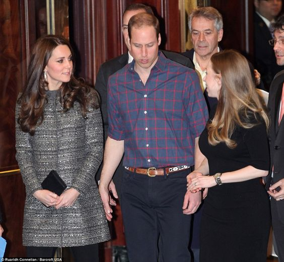 Chatting: The Duke (pictured speaking to Chelsea with Kate) continued a day of high-powere...