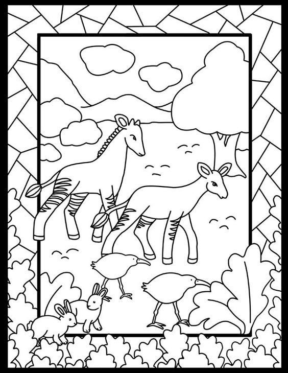 Dover Children's Sampler - Noah's Ark Stained Glass Coloring Book