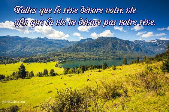 Carte texte reve une vie - Joliecarte.com