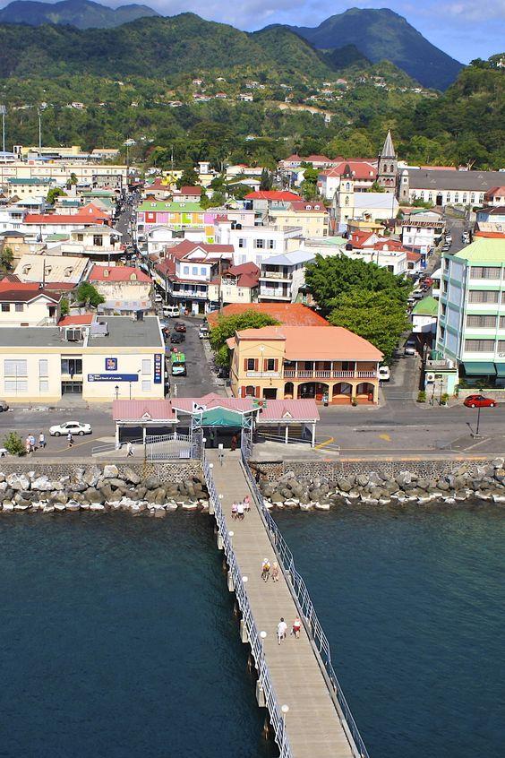 Beautiful city view in Dominica. #travelideas #vacationideas #destinationideas #placestovisit www.haisitu.ro