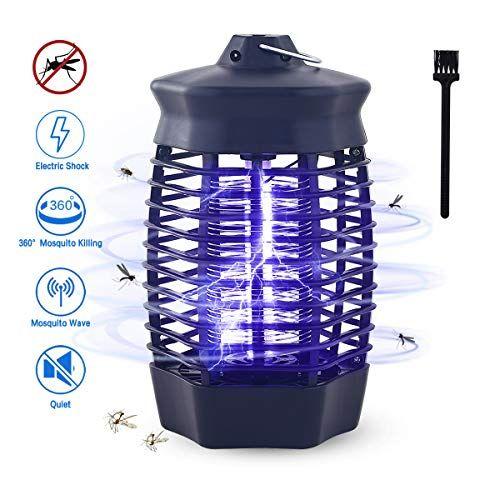 Qxmcov Lampe Anti Moustique 4w 360uv Piege A Moustiques Repulsifs Non Toxique Tueur Moustique Electrique Destructeu Piege A Moustiques Moustique Anti Moustique