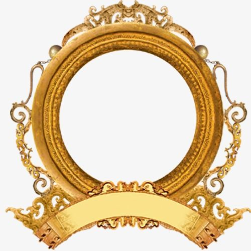 Download This Round Frame Round Yellow Frame Png Clipart Image With Transparent Background Or Psd Round Picture Frames Picture Frames School Picture Frames