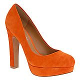 Orange leather platforms...I'd like these in every colour please (red, purple, teal, blue, black!)