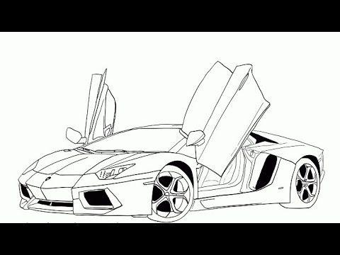 رسم سيارة سهله وبسيطة رسم سهل جدا رسومات سهلة وجميلة How To Draw A Car Youtube Cars Coloring Pages Truck Coloring Pages Race Car Coloring Pages