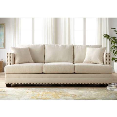 Zara 91 Wide Ivory Fabric Three Seat Sofa 44c14 Lamps Plus
