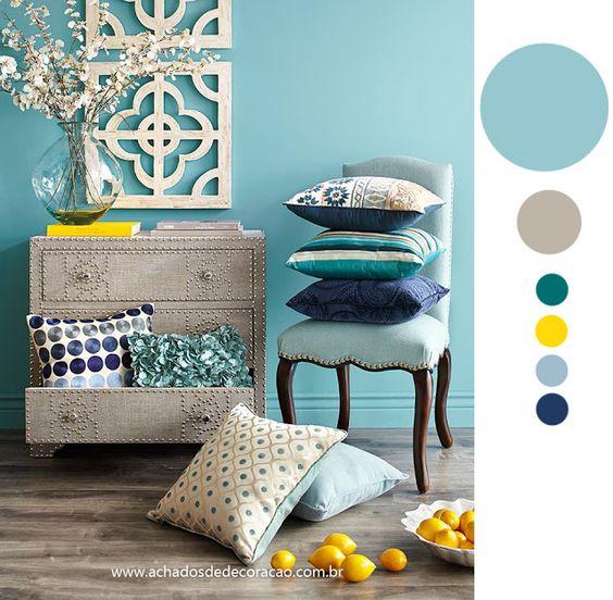 decoracao de sala azul turquesa e amarelo : decoracao de sala azul turquesa e amarelo:sala cris decoração azul e amarelo e muito mais decoração amarelo