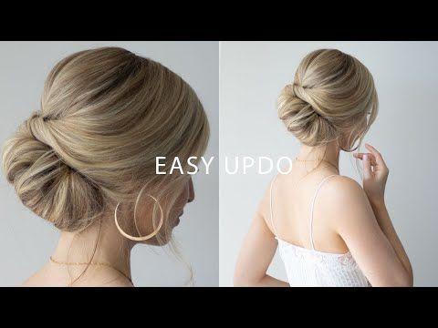 Easy Updo For Short Hair Hair Tutorial Alex Gaboury Short Hair Updo Short Wedding Hair Short Hair Styles