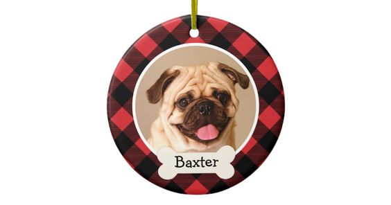 Personalized Puppy Dog Photo Ornament Christmas Photo Ornament. Custom Photo Ornament.