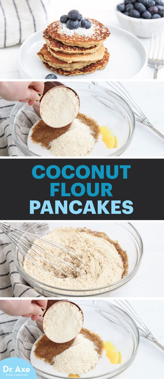 Coconut flour pancakes, Coconut flour and Pancakes on Pinterest