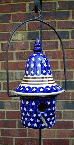 Stars and Stripes  birdhouse and Hanger