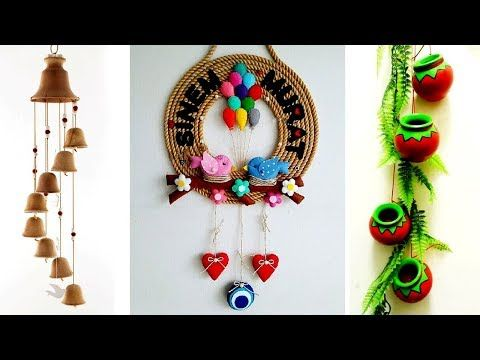 How To Make Wall Hangings At Home Wall Hanging Ideas With Waste