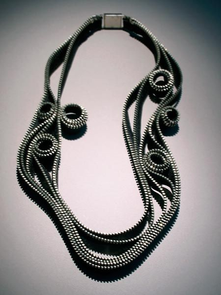 Kate Cusack - Zipper Jewelry: Necklaces: