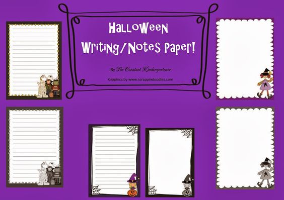 The Constant Kindergartener - A prek, kindergarten and 1st grade - halloween writing ideas