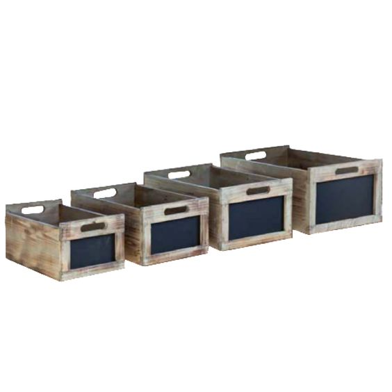 Chalkboard Crates - Set of 4