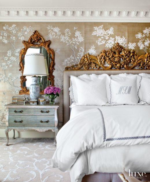 klasik yatak odası-oymalı yatak başı-yatak