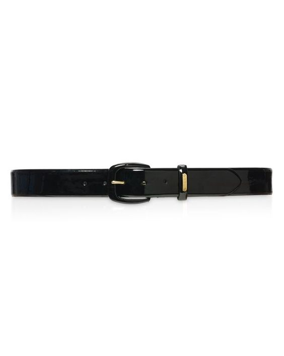 Lauren Ralph Lauren Patent Covered Buckle Belt