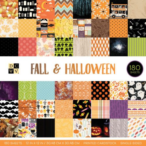 Cardstock 122662 Dcwv Single Sided Cardstock Stack 12 X12 180 Pkg Fall And Halloween Buy It Now Only 24 33 On Halloween Prints Halloween Paper Card Stock