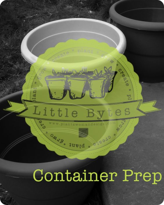 Step-by-step guide to planting a container.  We used herbs and you can use these steps to plant virtually any out door container.