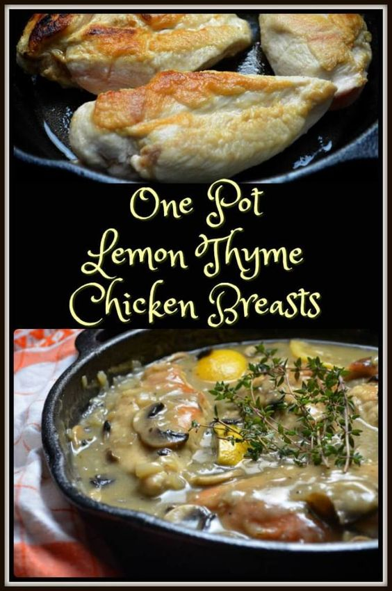 Lemon Thyme Chicken Breasts | Recipe | Lemon thyme chicken, Chicken ...