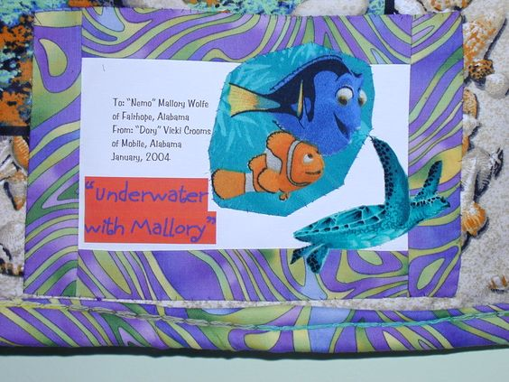 Label for Mallory's quilt