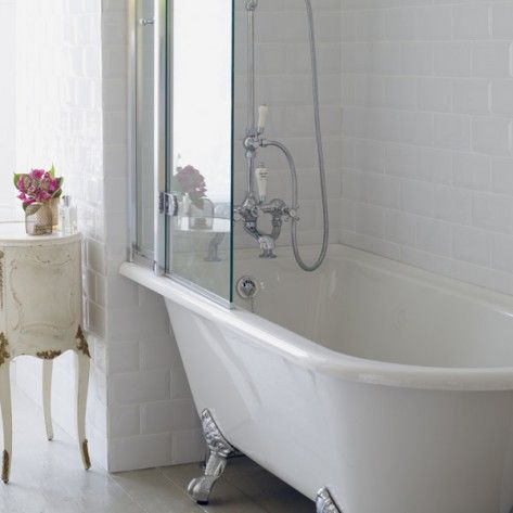 Burlington Hampton showering rolltop bath