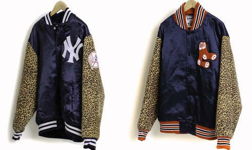 Gourmet x Mitchell & Ness Jackets #LettermanJacket #Gourmet #Xmas http://www.trendhunter.com/