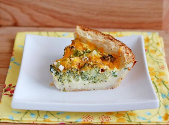 Broccoli and Cheddar Quiche with Mashed Potato Crust | Culinary Cool ...