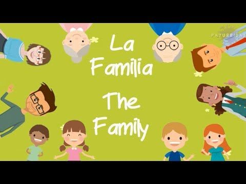 La Familia The Family Español Ingles Vídeo Para Niños Youtube Niños Gif Español Ingles Kindergarten