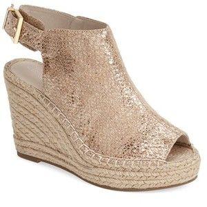 "Kenneth Cole New York 'Olivia' Espadrille Wedge Sandal, 4"" heel"