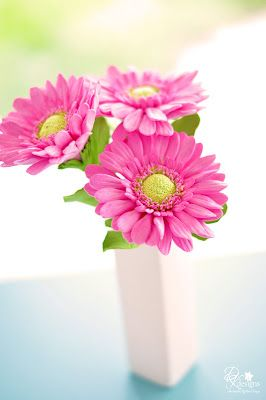 Made these lovely pink gerbera daisies for a client to give as a gift for someone special.